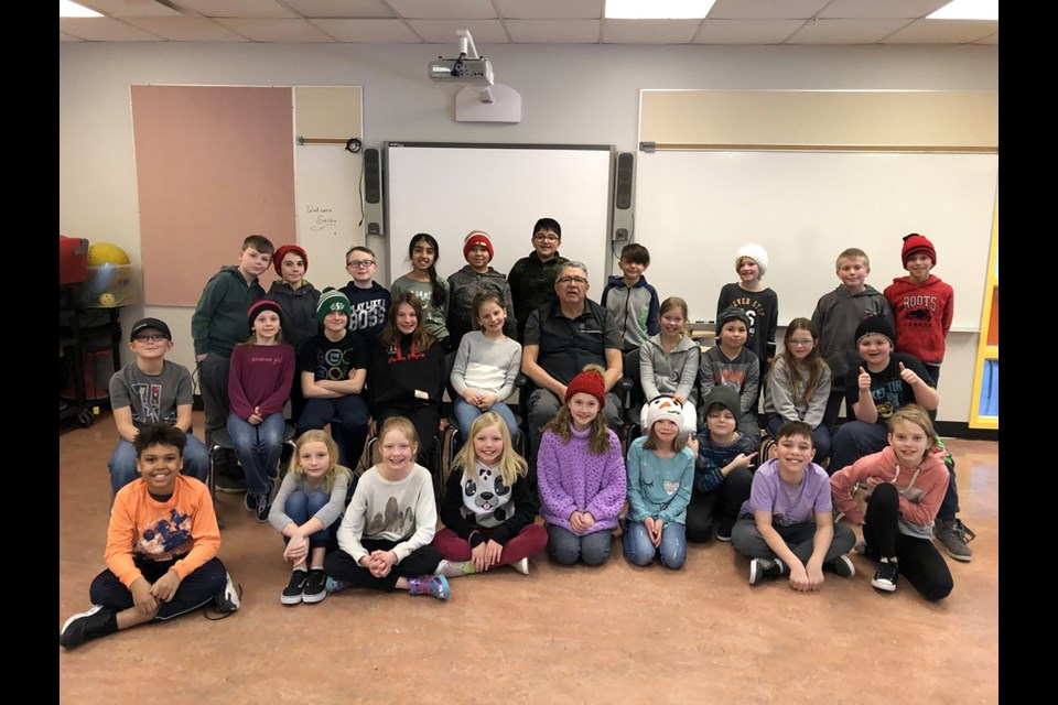 A Grade 4 class at A.E. Bowers Elementary School met with Elder Randy Bottle four times to learn about Indigenous culture. Photo Submitted/For Rocky View Publishing