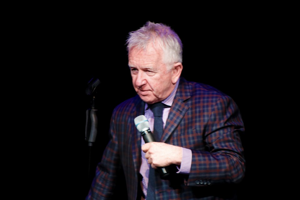 Canadian comedian Ron James has been touring Canada for more than 25 years. He brought his Full Throttle show to a sold-out Bert Church LIVE Theatre May 25. Photo by Nathan Woolridge/Rocky View Publishing