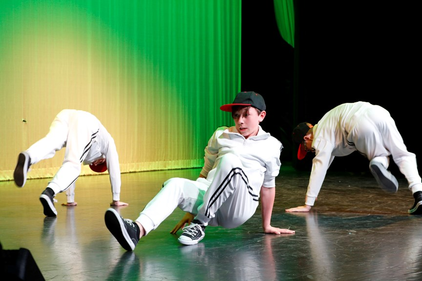 A group of young dancers performed a hip hop routine at the Airdrie Dance Academy's FOLLIES 2019 performance, May 4 at Bert Church LIVE Theatre. 
