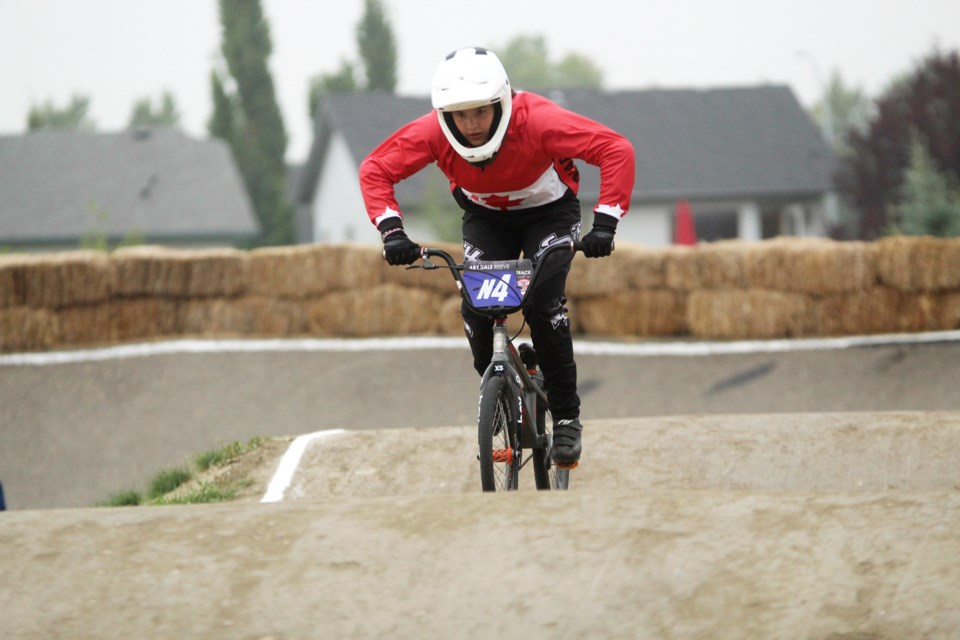 Airdrie's Abygale Reeve, 13, recently returned from the 2019 BMX UCI World Championships in Belgium.  Photo by Scott Strasser/Rocky View Publishing