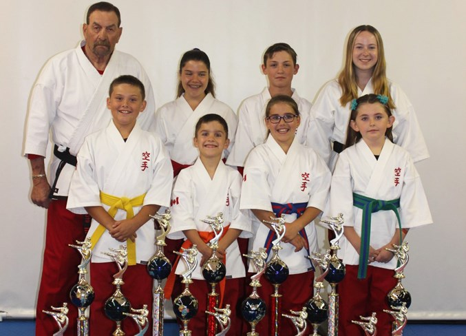 Seven martial artists from Beiseker brought back hardware from the 2019 IMAC World USA Championships in Las Vegas, Nev., June 28 to 30.  Photo Submitted/For Rocky View Publishing