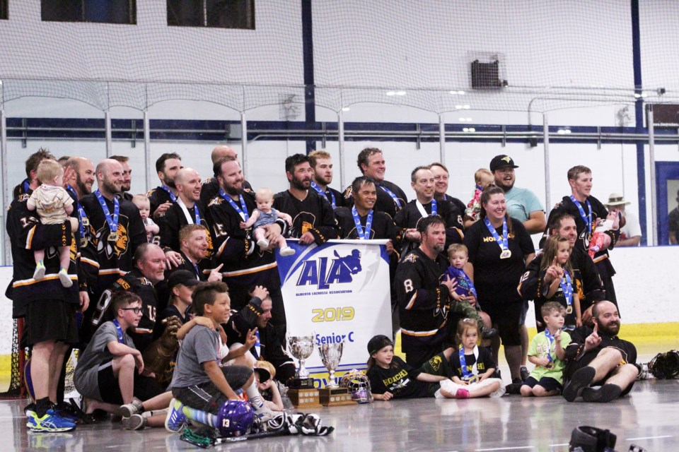 The Airdrie Mohawks senior C men's team captured its fourth consecutive Rocky Mountain Lacrosse League championship July 28, downing the Edmonton Warriors 7-5. 