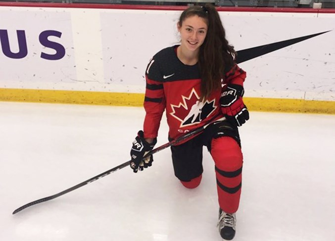 Sixteen-year-old Sarah Wozniewicz recently returned from Lake Placid, N.Y., where she played in the Canadian U18 women's hockey team's annual summer series against the United States. 
