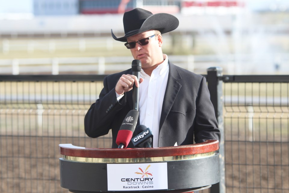 WPCA Director of Marketing Bryan Hebson announced last fall that this summer's world championship for chuckwagon racing will be held Aug. 21 to 25 at the Century Downs Racetrack and Casino, in Balzac.  File Photo/Rocky View Publishing