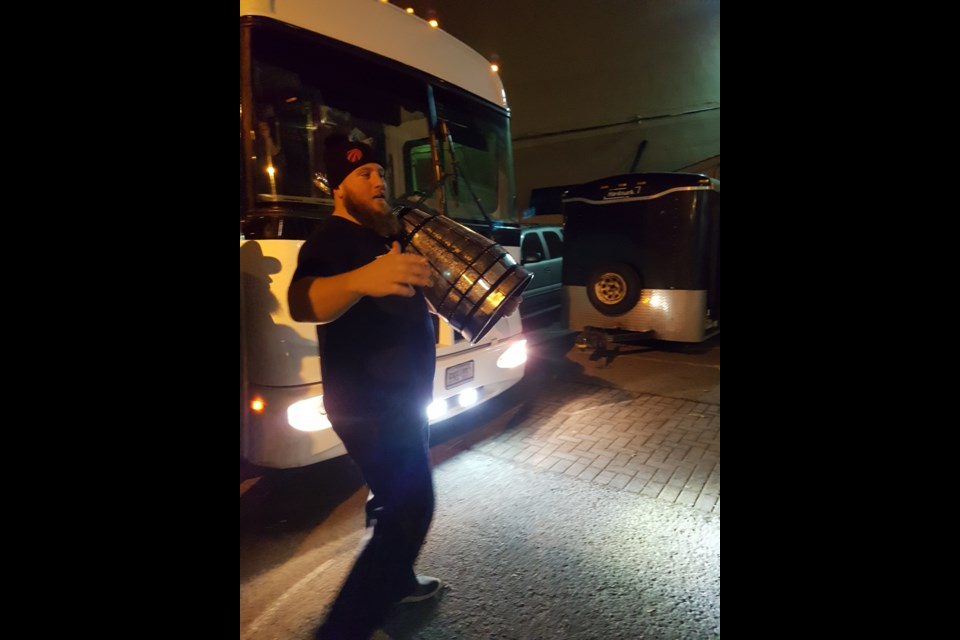 The Grey Cup arrives in Barrie