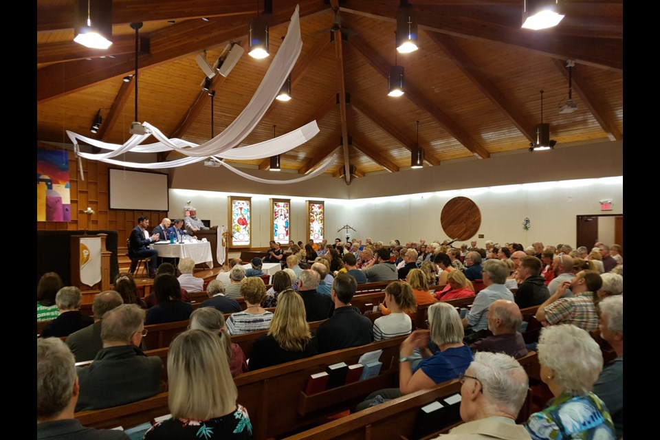 A packed Grace United heard the issues, Tuesday night. Shawn Gibson for Barrie Today