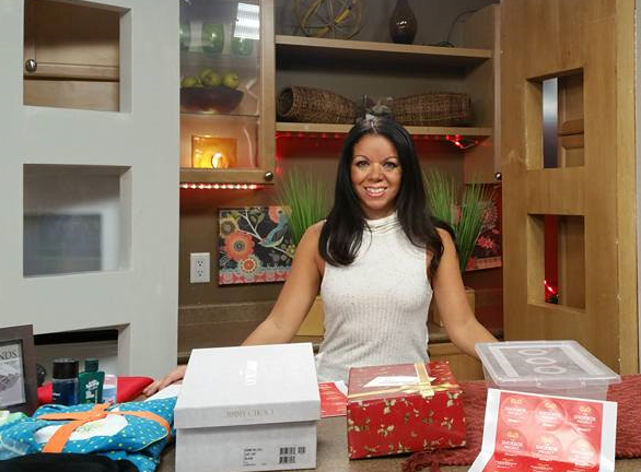 Coordinator Shannon Murree gets ready to get gifts to women who need them