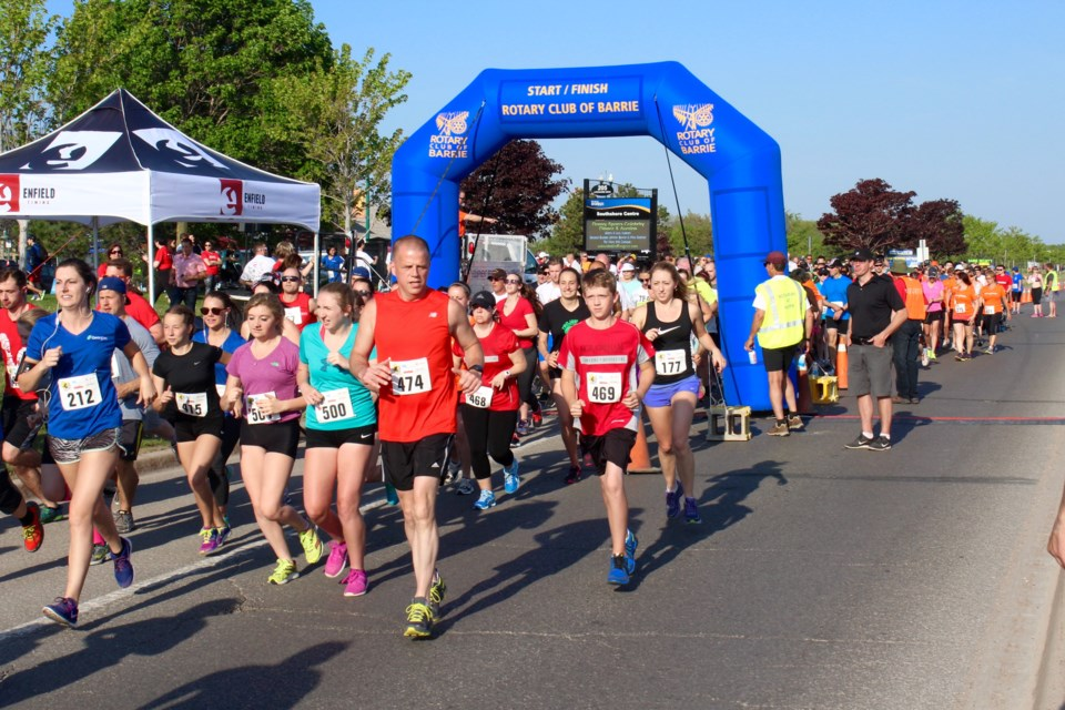 Image result for barrie rotary fun run 2017