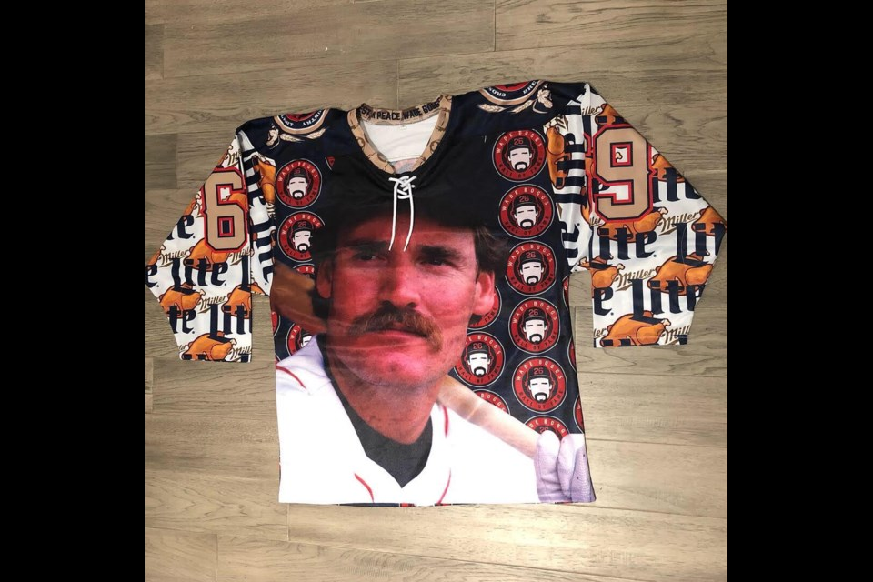 The legendary Wade Boggs on a jersey. Submitted photo