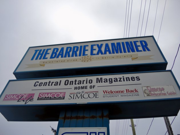 2017-11-27 Barrie Examiner sign