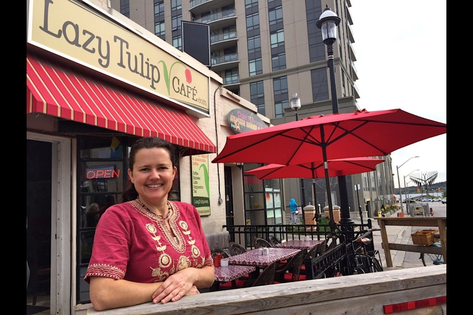 Owner Michelle Huggins is expanding her tiny cafe into the space next door. 
