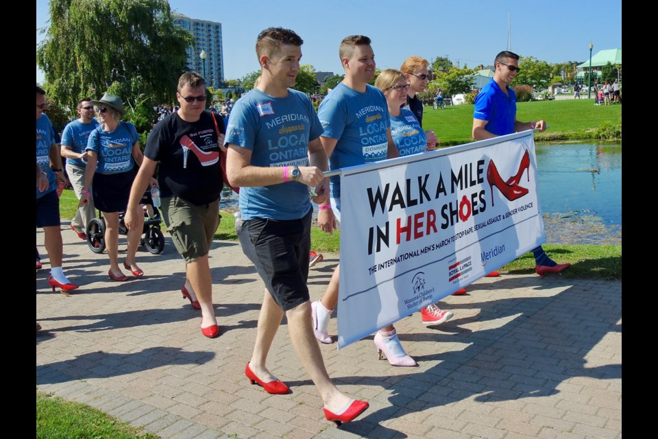 The 8th annual Walk A Mile In Her Shoes was held Saturday at Heritage Park.