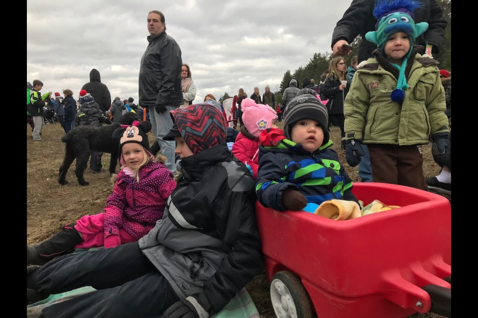 Onlookers gathered to see the Canadian Pacific Holiday Train on Wednesday, Nov. 29, 2017. Sue Sgambati/BarrieToday