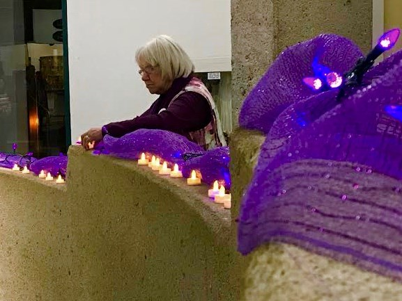 Candles were placed at the front of the room for the murder victims. Sue Sgambati/BarrieToday