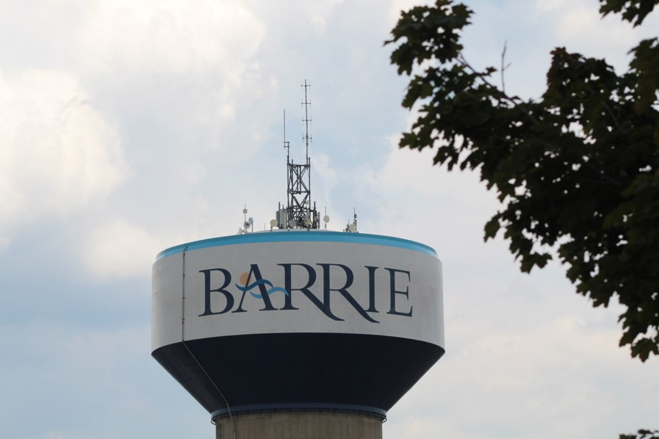 South-end Barrie water tower on Mapleview Drive. Raymond Bowe/BarrieToday