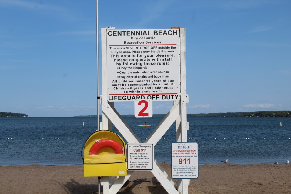Barrie lifeguard station at Centennial Beach. Raymond Bowe/BarrieToday