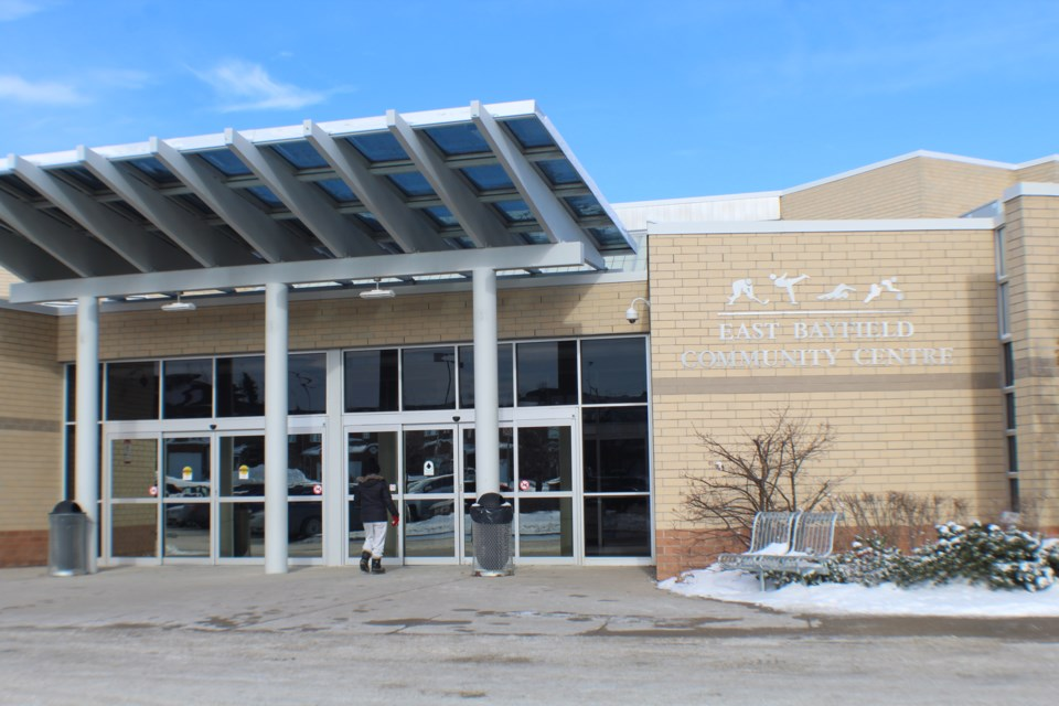 East Bayfield Community Centre, located on Livingstone Street East in north-end Barrie, and its parking lot could be rented to a company that wants to hold an boat show at the facility in February 2020. Raymond Bowe/BarrieToday