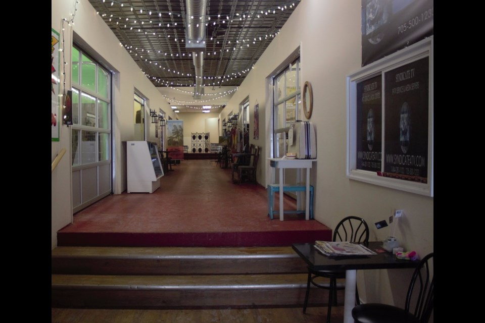 The main hallway of the Market as it looks today. Barrie Historical Archive