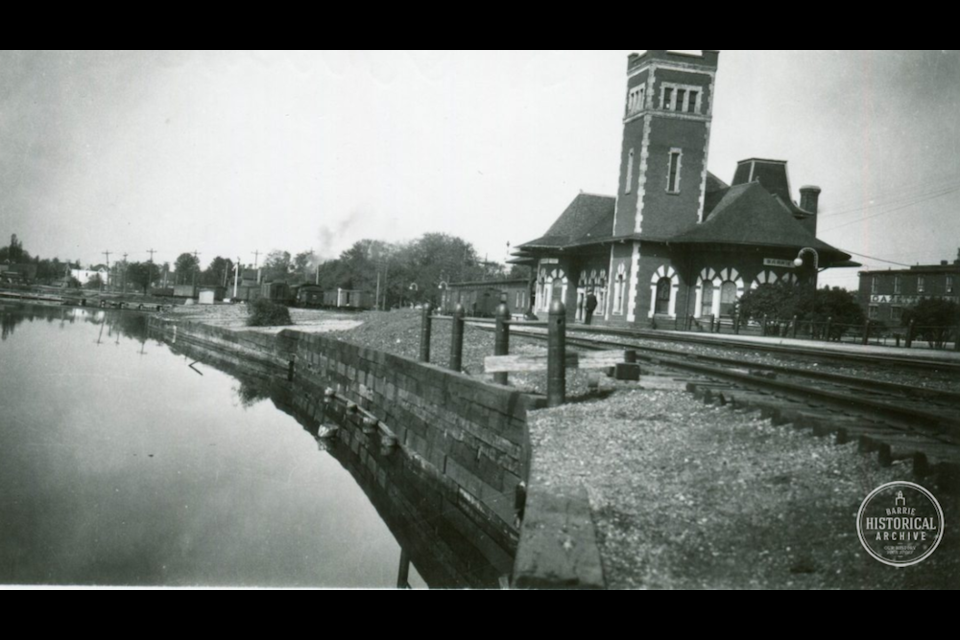 Grand Trunk Railway Station in Barrie circa 1925. Photo courtesy of the Barrie Historical Archive