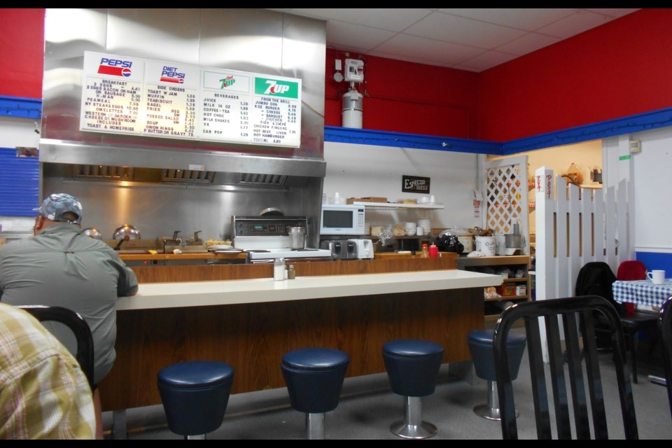 The open kitchen and diner counter at Player's
