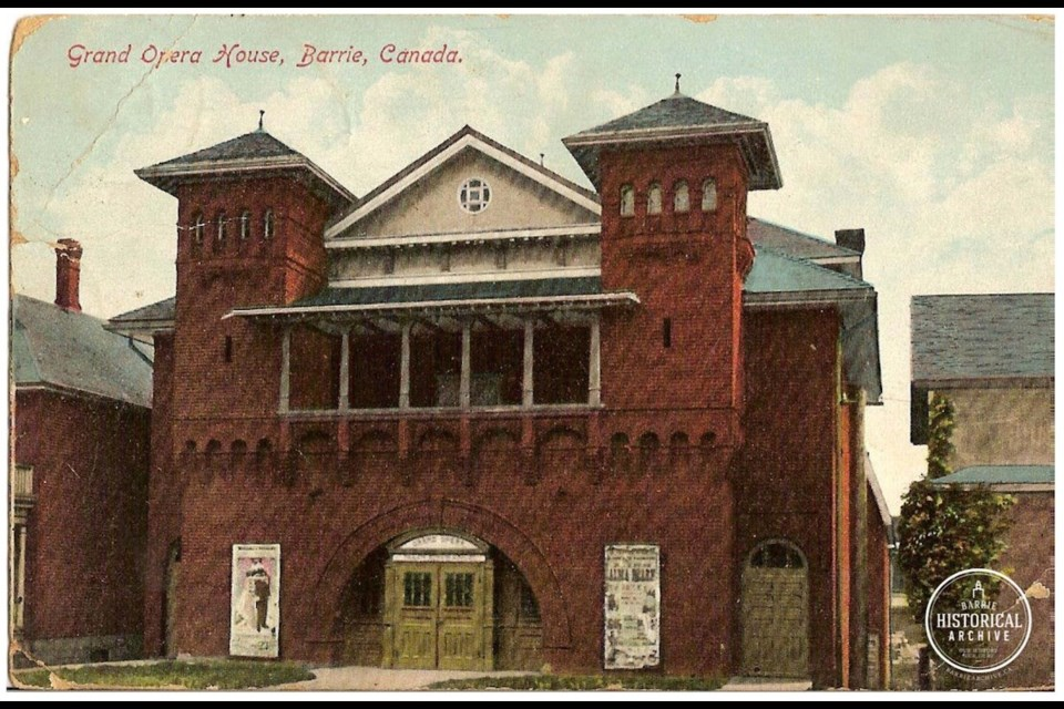 The Grand Opera House on Collier Street circa 1915. Barrie Historical Archive
