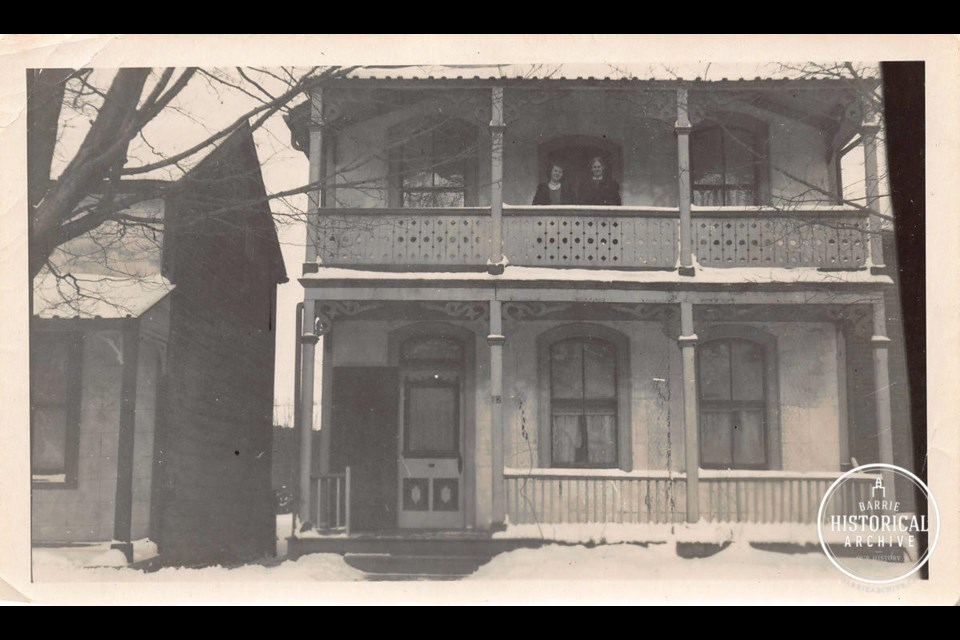 The Hart family home at 52 Worsley St., near the present day library site, circa 1925. Photo courtesy of Barrie Historical Archive.