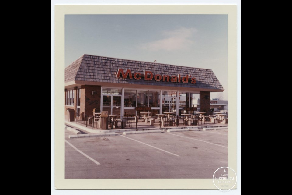 The McDonalds on Bayfield St. as it looked in 1971. Photo courtesy of Barrie Historical Archive.