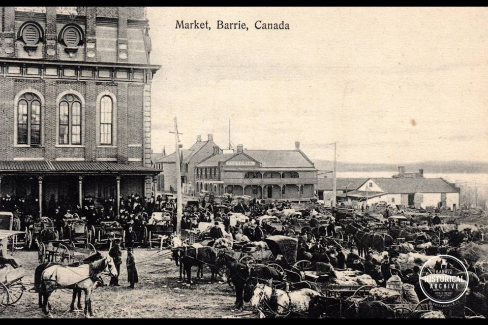 The Barrie Town council of 1887 requested that a water closet be built at Market Square. Photo courtesy of the Barrie Historical Archive