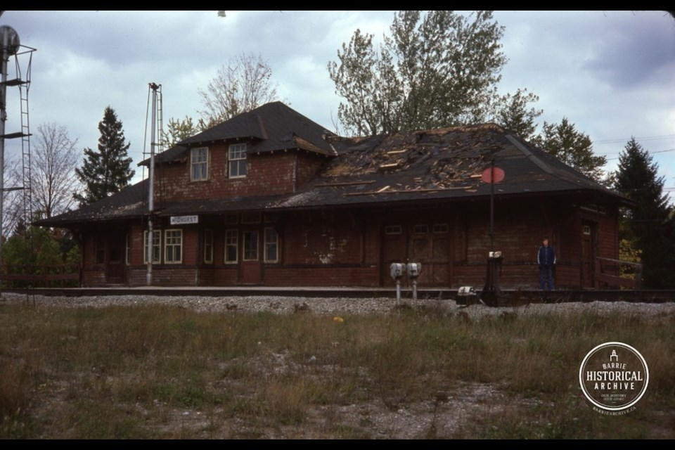 The Midhurst train station circa 1978. Photo courtesy of the Barrie Historical Archive