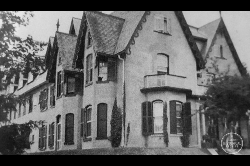 Springbank, the former Burton home, as it became Simcoe Hall in 1912. Photo courtesy of the Barrie Historical Archive