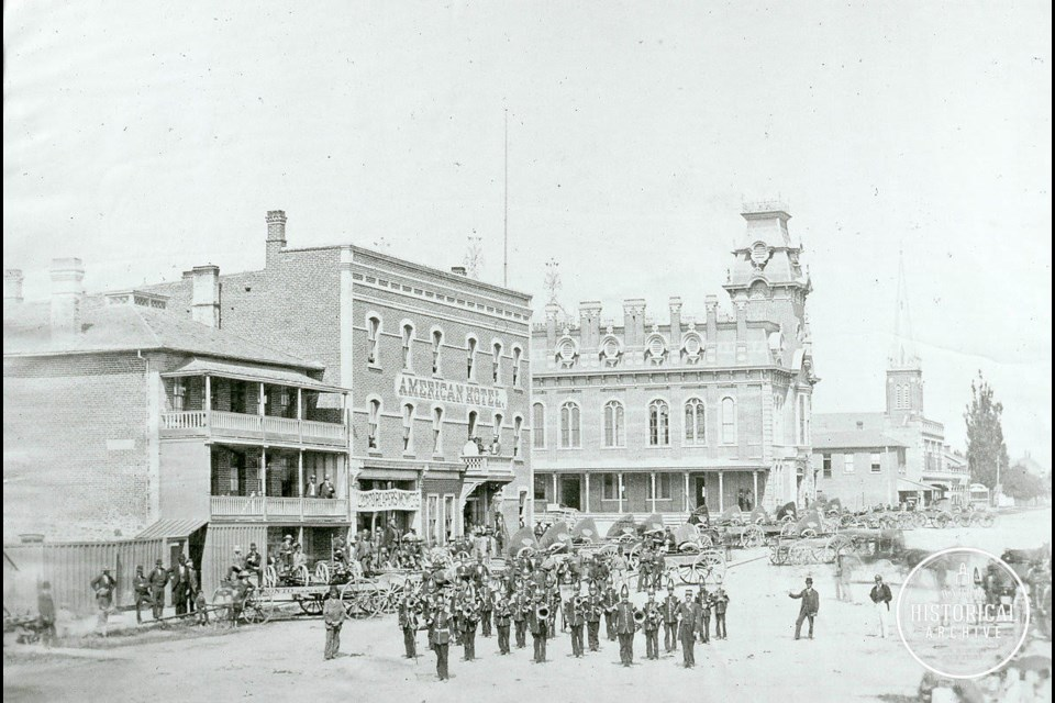 The newly renovated, and very ornate, Market building after 1877. Photo courtesy of the Barrie Historical Archive