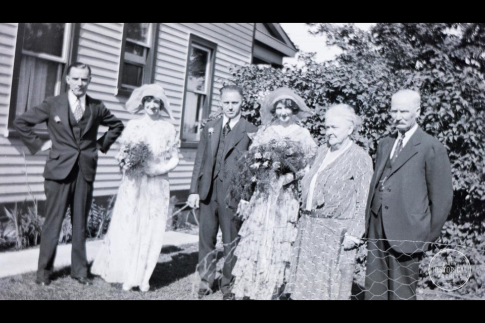 A Gill family wedding on Innisfil Street about 1925. Photo courtesy of Barrie Historical Archive