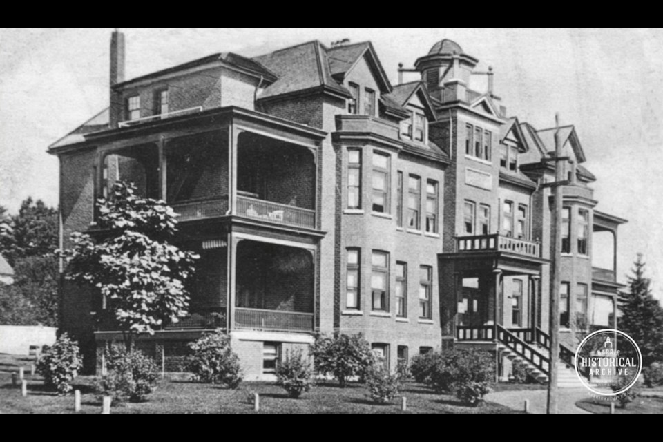 Royal Victoria Hospital on Ross Street around 1910. Photo courtesy of the Barrie Historical Archive