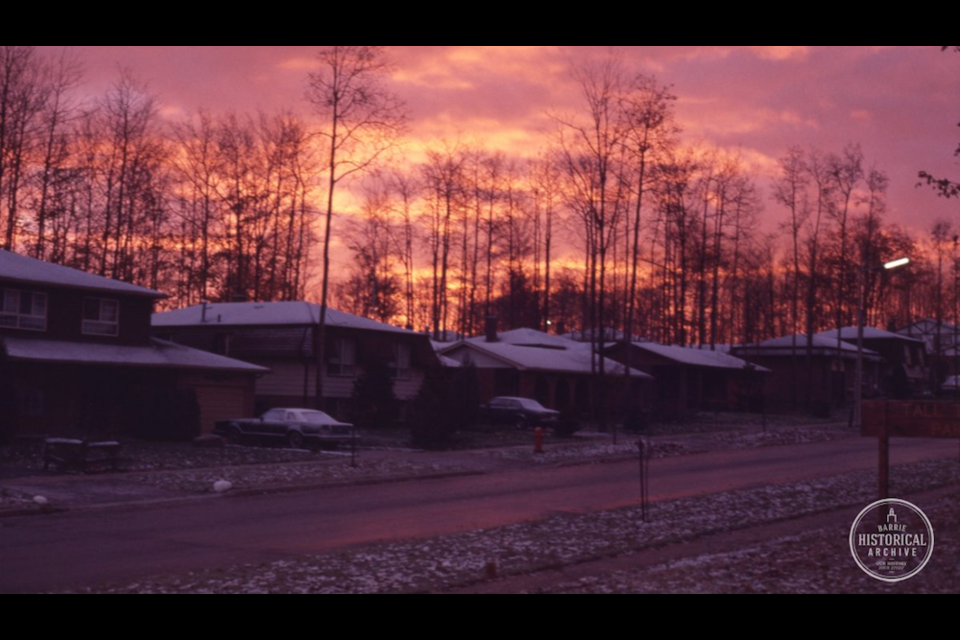 Homes on Springdale Drive circa 1980. Photo courtesy of the Barrie Historical Archive
