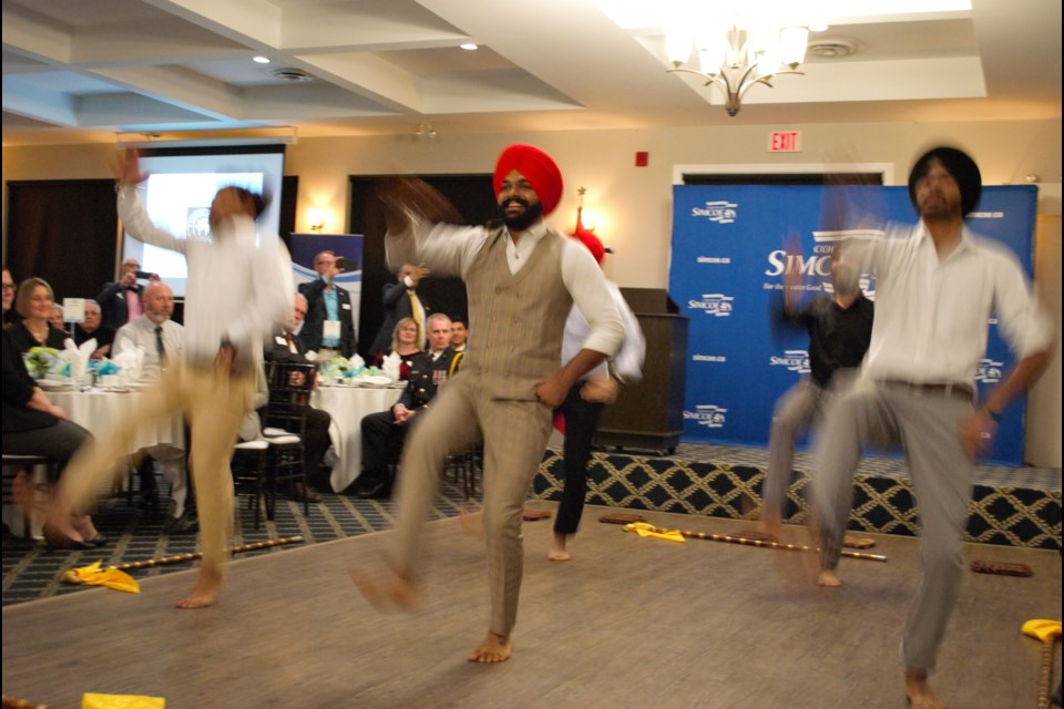 Bhangra Crew Ontario performed at the Newcomer Recognition Awards on Thursday. Jessica Owen/BarrieToday