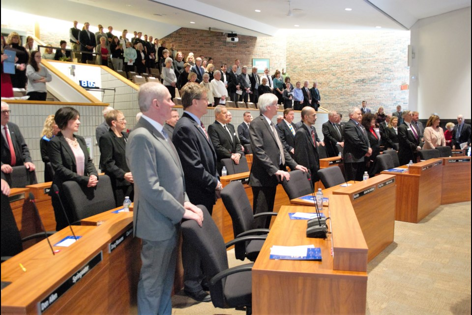 The 2018-2022 Simcoe County council sits for its inaugural meeting. Jessica Owen/BarrieToday