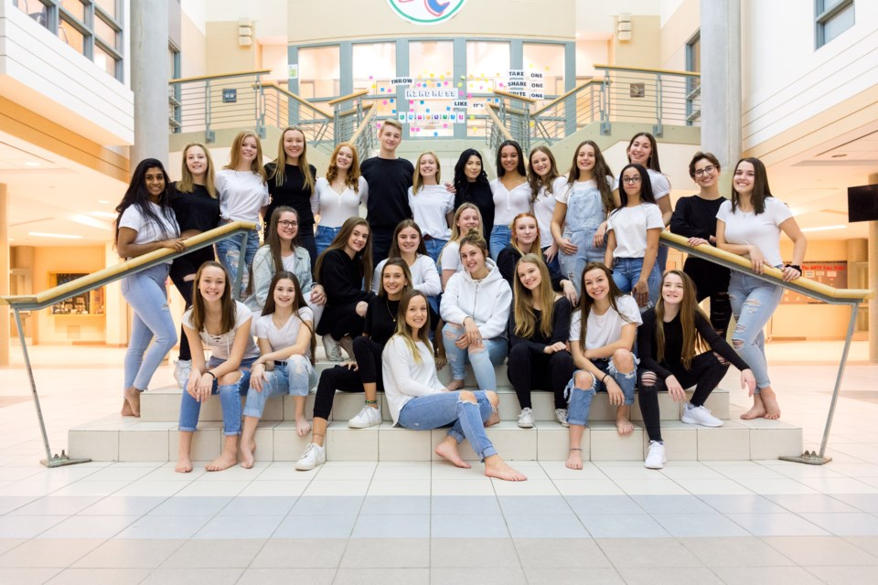 The full Bear Creek Dance Company includes 28 students grades 9-12.  Aniket Baxi/Photo