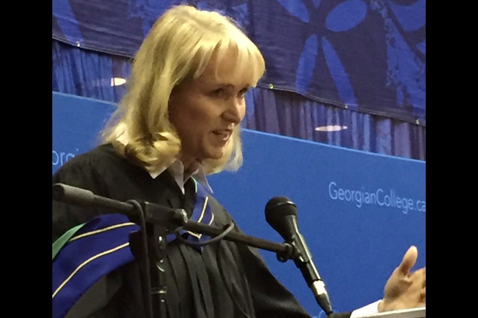 Dianne Craig, president and CEO of Ford Canada, speaks to Georgian College grads. Sue Sgambati/BarrieToday