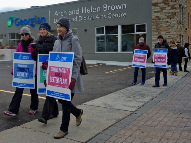 OPSEU leaders speak out at St. Clair College rally