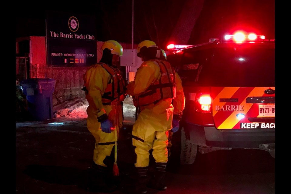 A citizen near Johnson's Beach heard someone calling for help on Friday evening. A 41-year-old man was rescued from the ice  on Kempenfelt Bay and taken to hospital. Sue Sgambati/BarrieToday