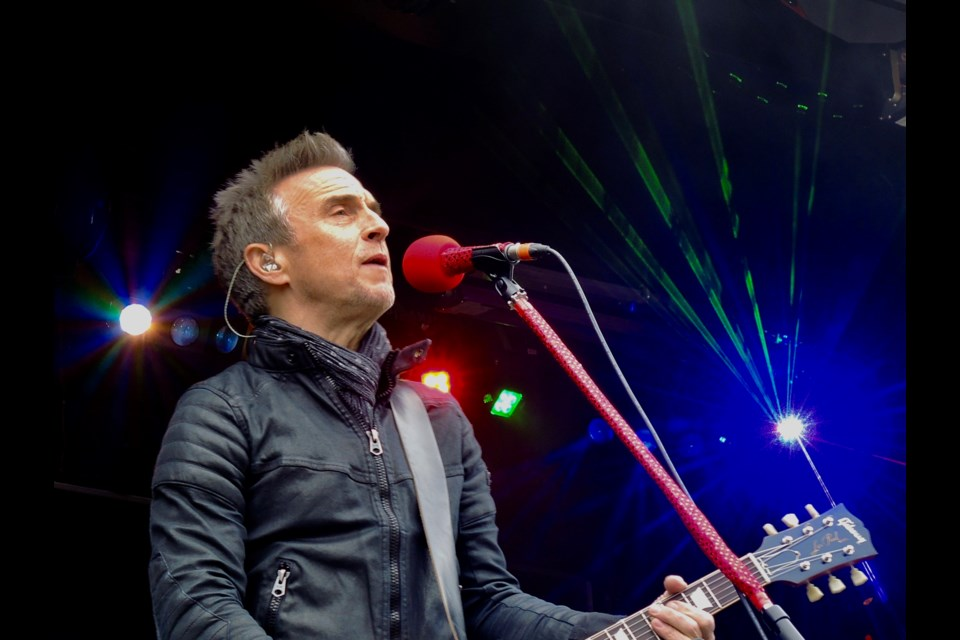 Colin James performs at the 2017 CP Holiday Train stop in Midhurst on Nov. 29, 2017. 