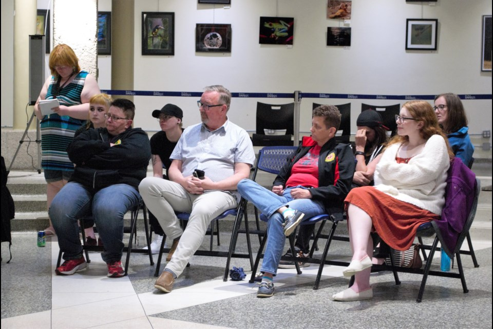 About 35 attendees joined in the roundtable discussion at Barrie City Hall on Thursday night on the future of Pride earlier this week. Jessica Owen/BarrieToday