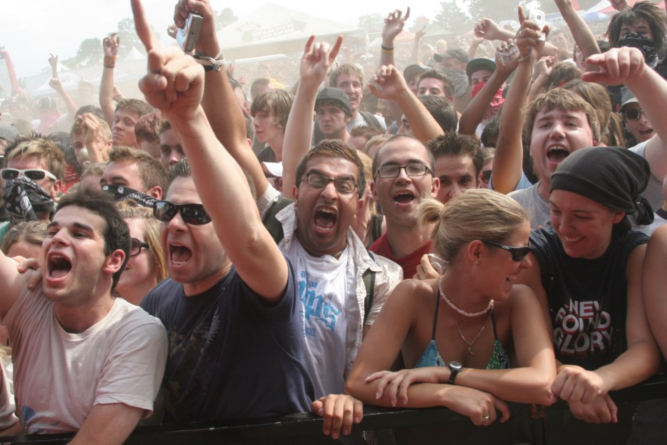 Fans rejoice for some punk rock at Warped Tour 2007 at the former Molson Park. Kevin Lamb for BarrieToday