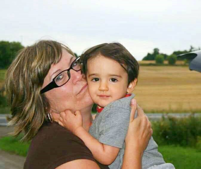 Denise Langille holds nephew Dominic Denesiuk-Smith who died in a house fire last week. Photo courtesy Denise Langille