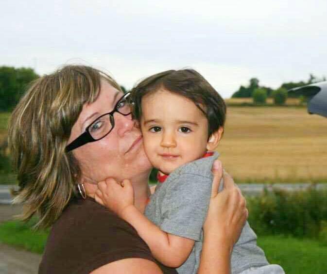 Denise Langille holds nephew Dominic Denesiuk-Smith who died in a house fire last week. Photo courtesy Denise Langille