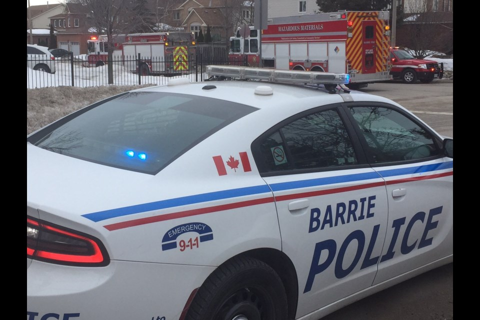 Barrie fire, police and Simcoe County Paramedics responded to a call on Kozlov Street on Jan. 24, 2017. Sue Sgambati/BarrieToday