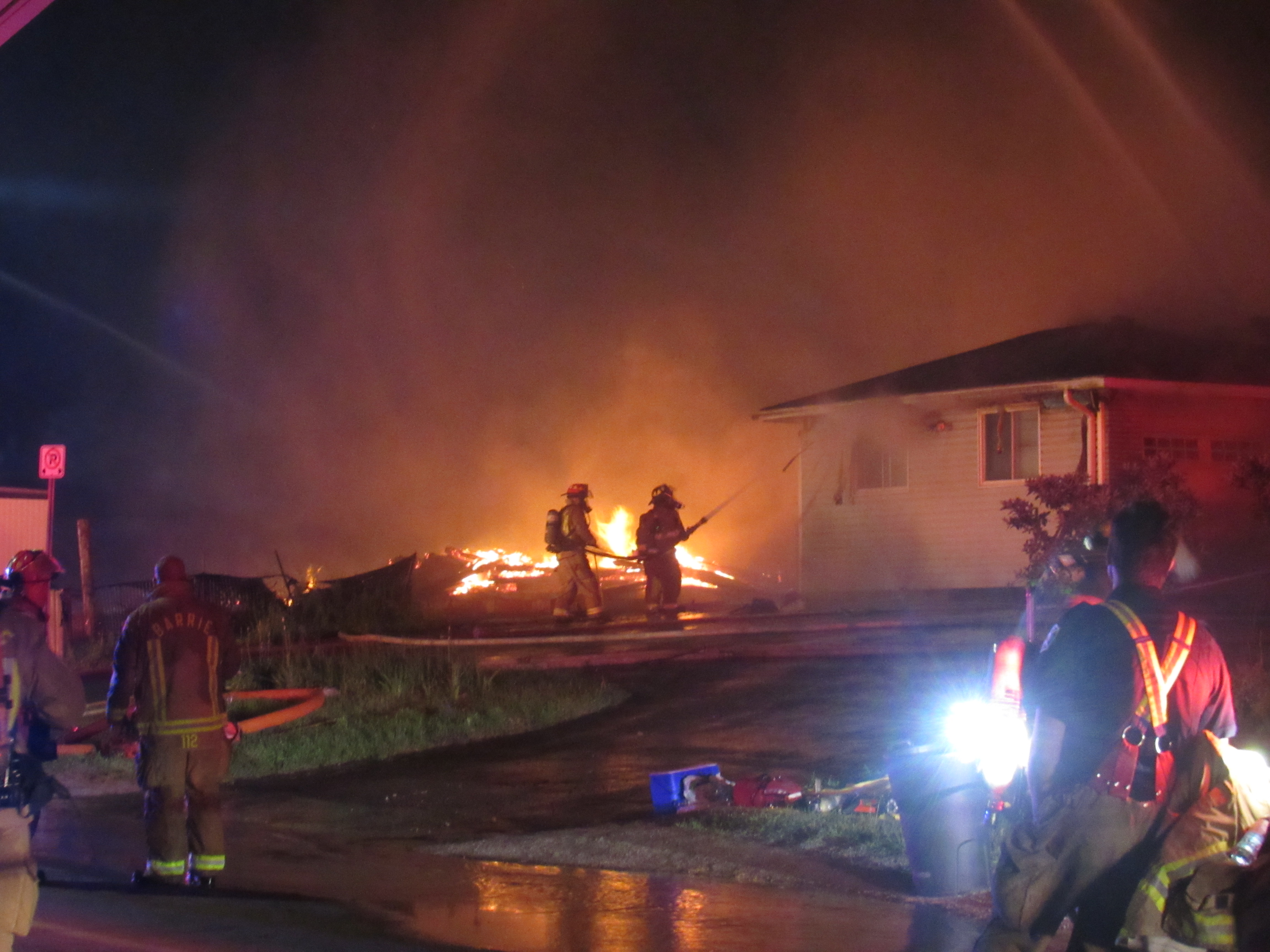 Late-night fire destroys several homes on Edgehill Drive (11