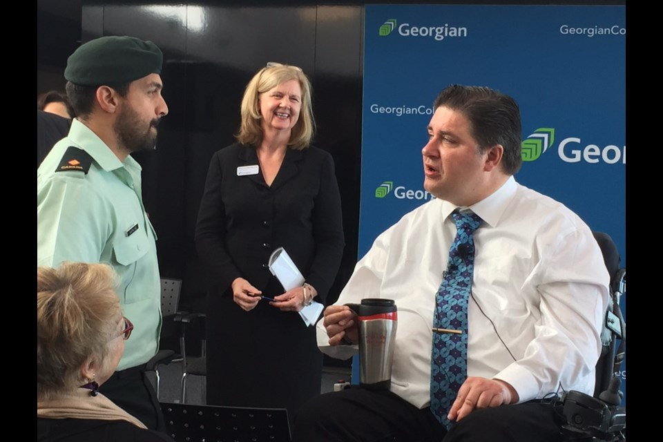 Veterans Affairs Minister Kent Hehr was at Georgian College Tuesday to announce several new educational initiatives for Veterans.
