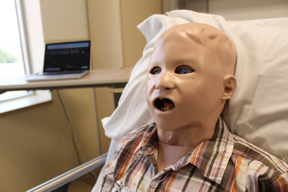 This is Pediasim, a high-tech and interactive dummy who will live at the new Centre for Education and Research at Royal Victoria Regional Health Centre in Barrie. The centre was officially opened on Tuesday. Raymond Bowe/BarrieToday