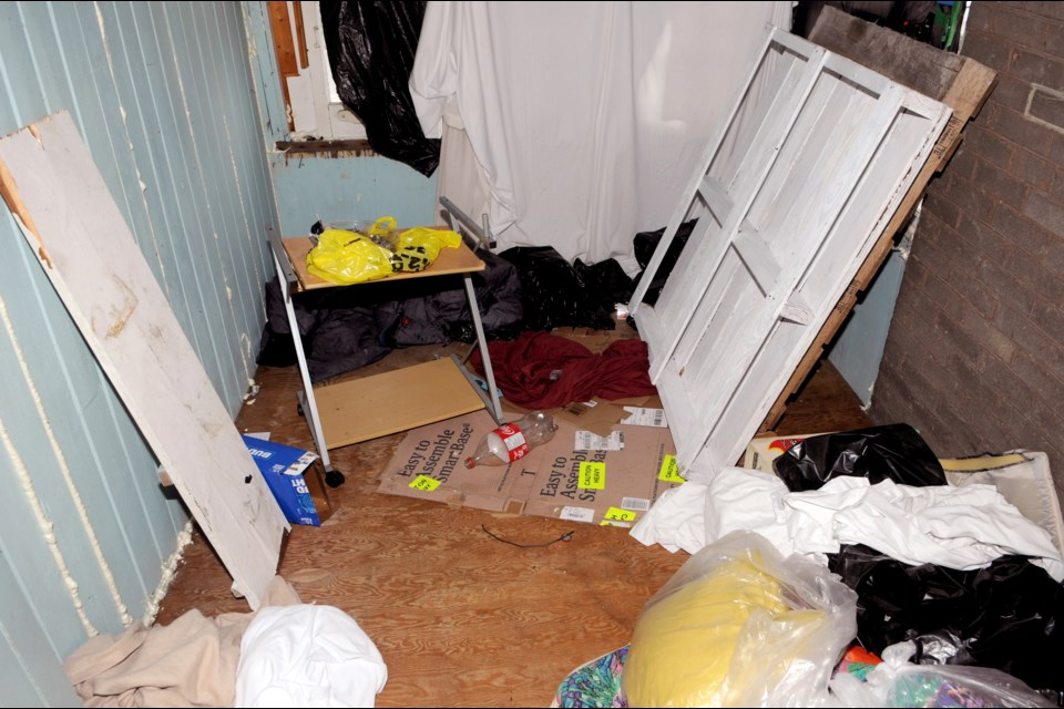 A photo of the squalid living conditions endured by human trafficking victims. Contributed image